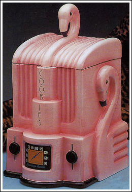 Flamingo Cookie Jar and Salt & Pepper Shakers