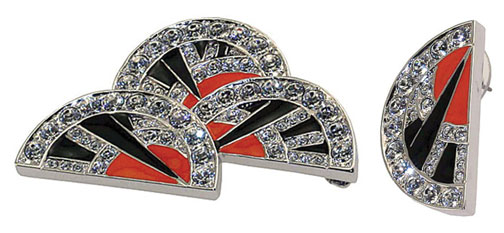 Art Deco Fan Jewelry