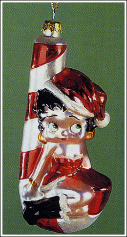 Betty Boop Candy Cane Ornament