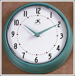 Retro Green Wall Clock