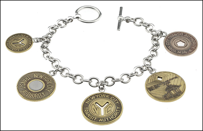Subway Token Charm Bracelet