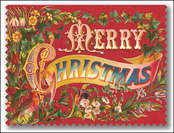 vintage merry christmas cards