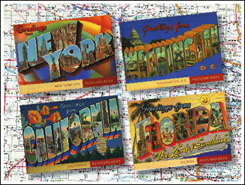 Deco Destinations Postcards